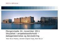 Morgenmøde 24. november 2011 Illoyalitet i ... - Bech-Bruun