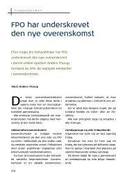 FPO har underskrevet den nye overenskomst - Organistforeningen