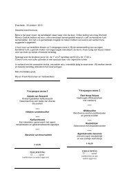 Viergangen menu 1 *** *** *** Viergangen menu 2 - Restaurant ...