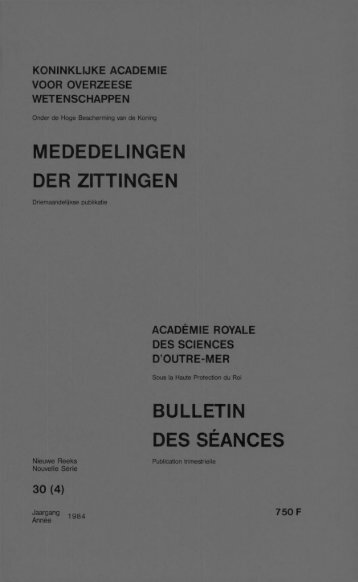 (1984) n°4 (PDF format) - Royal Academy for Overseas Sciences