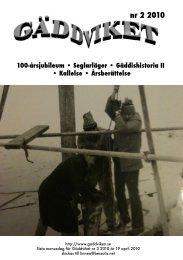 Gäddviket nr.2 2010 - Segel Sällskapet Gäddviken