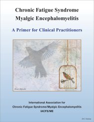 A Primer for Clinical Practitioners - IACFS/ME