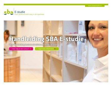 Handleiding SBA E-studie