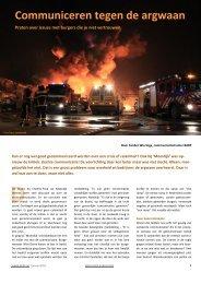 Crisiscommunicatie en argwaan - Bob de Ronde Partners BV