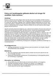 Alkohol- och drogpolicy - Kalix