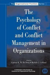 CONFLICT MANAGEMENT The Psychology of conflict and conflict ...