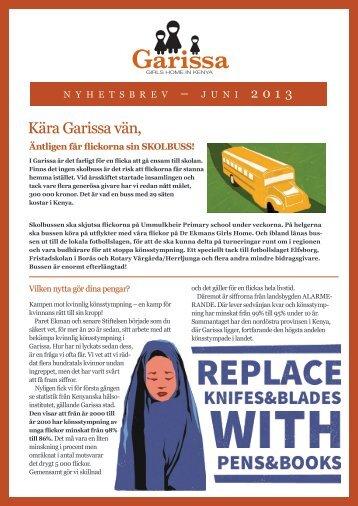 Nyhetsbrev, juni 2013 - Garissa