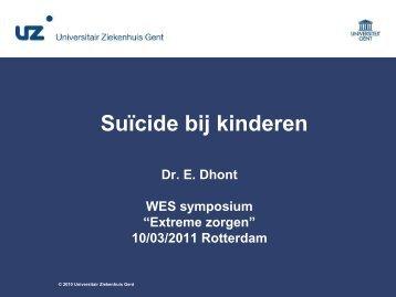Suïcide bij kinderen - WES-Rotterdam