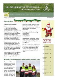Helgenæs Naturefterskole - Sikkerheden er stadig i top! Forældrebrev