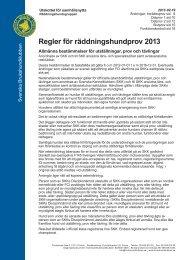 Regler för räddningshundprov 2013 - Svenska Brukshundklubben