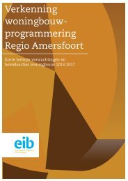Verkenning woningbouw- programmering Regio Amersfoort