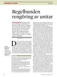 Regelbunden rengöring av unitar - Tandläkartidningen
