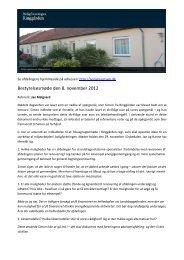Referat fra bestyrelsesmøde den 8. november 2012