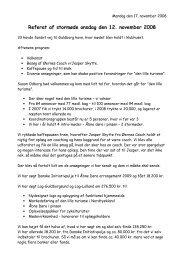 Referat af stormøde onsdag den 12. november 2008 - Den lille turisme