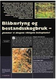 glemmer vi skogens viktigste beiteplante - Hjorteviltet