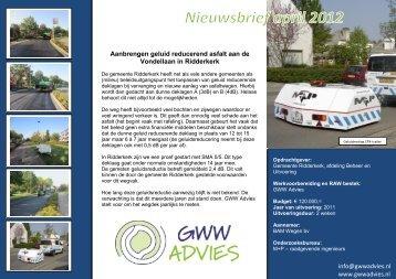 Nieuwsbrief April 2012 - GWWAdvies