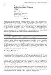 Language and development: Perspectives from sub-saharan Africa