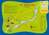 Karta över Hälsans Stig - Ljungby