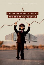 entrepreneurship, norms and the business cycle - Entreprenörskapsforum