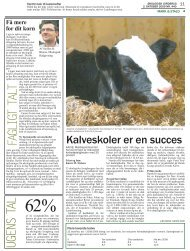 Læs om de gode resultater for kalveskolerne her, fra Økologisk ...