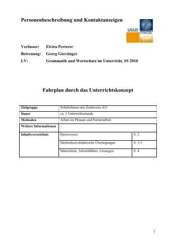 Personenbeschreibung und Kontaktanzeigen Fahrplan ... - Tibs.at