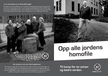 Opp alle jordens homofile