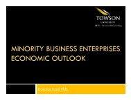 MINORITY BUSINESS ENTERPRISES ECONOMIC OUTLOOK