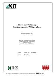 Skript (Stand 15. Juni 2013) - IKS - KIT