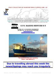 Due to travelling abroad this week the newsclippings may reach you ...