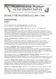 MUSIK I VIKINGETIDEN (Ca. 800- 1100) - Duda