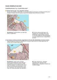 vaasa generalplan 2030 anmärkningar till planförslaget