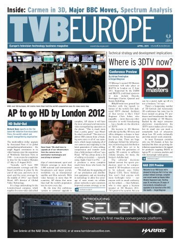 AP to go HD by London 2012 - Tvbeurope