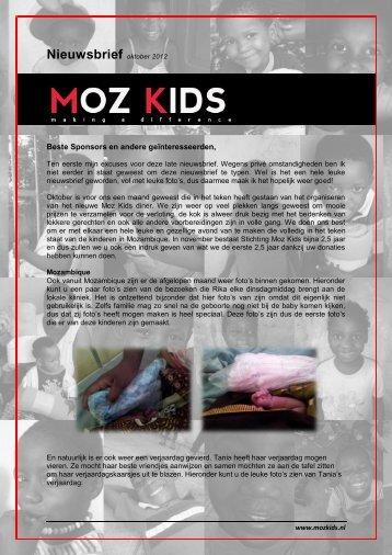Nieuwsbrief oktober 2012 - Moz Kids