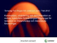 Konstruktion, utvärdering och demonstration av ... - Avfall Sverige