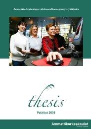 Thesis 2005 palkitut (pdf) - SAMK