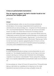 Crises en parlementaire bemoeienis - Montesquieu Instituut