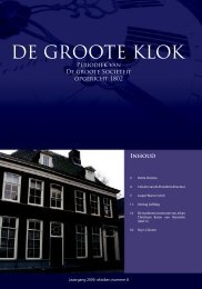 de Groote Klok - oktober 2009 - de Groote Sociëteit Zwolle