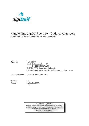 DigiDuif handleiding voor de ouders
