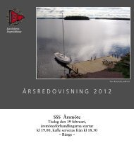 Årsredovisning 2012 (.pdf) - Sandvikens Segelsällskap