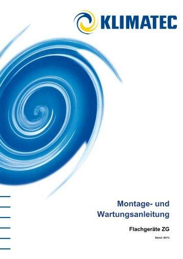 Montage- und Wartungsanleitung Flachgeräte ZG
