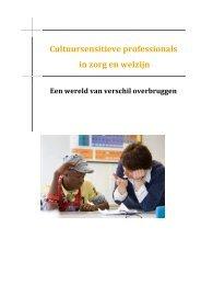 Cultuursensitieve professionals in zorg en welzijn - Hogeschool van ...