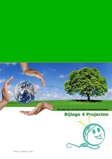Bijlage 4 Projecten - Gemeente Meerssen