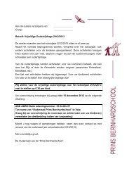 Aan de ouders verzorgers van - PCBS Prins Bernhard