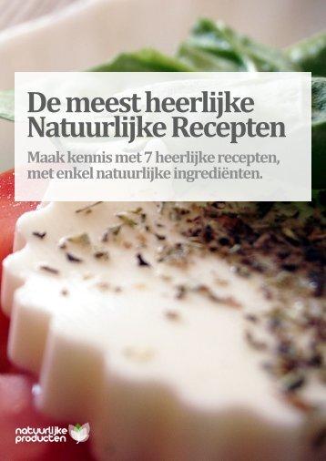 Natuurlijke Recepten - Natuurlijke Producten