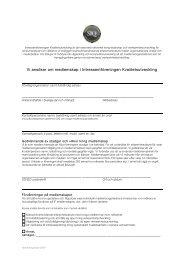 Ansökan medlemskap - Institutet för Kvalitetsutveckling, SIQ