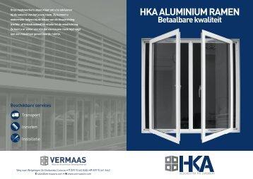 HKA folder.indd - Vermaas Glas en Aluminium Gevelsystemen