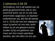 1 Johannes 2:18-19 - Kerk van de Nazarener Vlaardingen