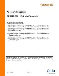 Ausschreibungstexte: FERMACELL Estrich-Elemente