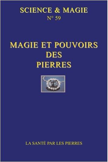 MAGIE ET POUVOIRS DES PIERRES - Science-et-Magie