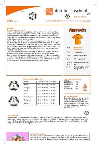 15-06 Schoolreisje 15-06 Feestje groepen 8 16-06 OR-vergadering ...